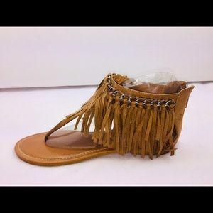 Pierre Dumas Fringe Sandals